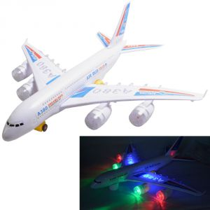Airbus Plane Flashing Lights Music Gift Battery Operated Kids Toy (code - Nr Ty 85)