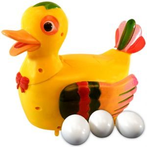 Funny Duck Lays Eggs Light Sound Battery Operated Toys Kids Gift (code - Jm Nr Ty 07)