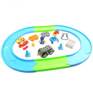 Kids Baby Railway Train Educational Developmental Building Blocks Toys (code - Nr Ty 70)