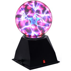 10cm Plasma Light Lamp Ball Finger Touch And Glow Home Decor Laser (code - Pl Bl 07 A)