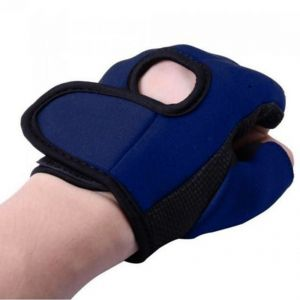 2 X Neoprene Palm Support Wrist Protection Guard Fingerless Sports Gloves Gym (code - Jm PM St 02)