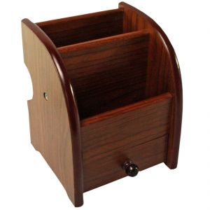 Wooden Pen Holder Stand Office Home Dryer Table Desk Mini Portable (code - Pn HD 12 A)