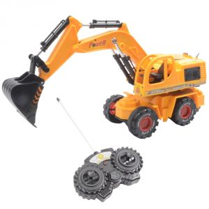 11 Inch Rechargeable Remote Radio Control Rc JCB Dump Track Kids Toys (code - RC TY 102)