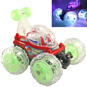 16cm Rechargeable Radio Control Rc Stunt Twister Car Kids Toys Remote - R38