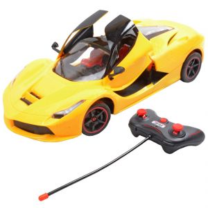 Rechargeable 28cm Radio Control Rc Racing Car Kids Toys Gift Remote Yellow (code - Jm Rc Ty 88)