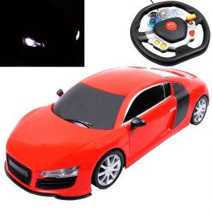 Rechargeable 26cm Big Gravity Induction Rc Racing Car Kids Toy Remote Red (code - Jm Rc Ty 89)