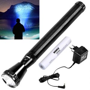 Torches and flashlights - Rechargeable 3000M Beam Shot LED Waterproof NISHICA Light Torch Flashlight (Code - JM TR CH 57)