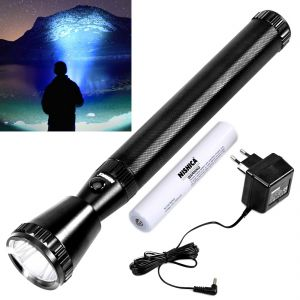 Torches and flashlights - 2000M Beam Shot LED Rechargeable Waterproof NISHICA Light Torch Flashlight (Code - JM TR CH 58)