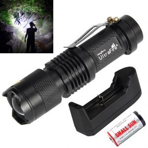 400m Zoomable 3 Mode Rechargeable Cree LED Waterproof Flashlight Light Torch (code - Jm Tr Ch 63)