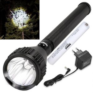 Rechargeable 700m Beam Shot LED Waterproof Nishica Light Torch Flashlight (code - Jm Tr Ch 71)