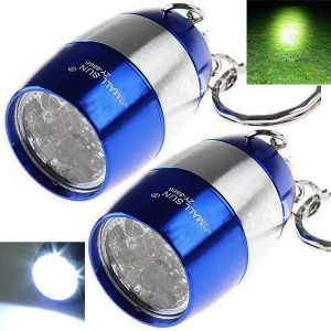2 Pieces Mini Replaceable Battery Operated LED Torch Lamp Flashlight Light (code - Jm Tr Ch 72)