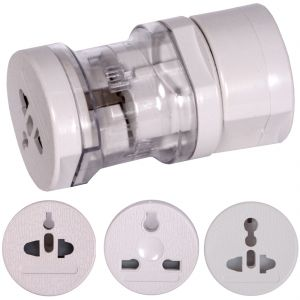 All-in-one Uk / Us / Au / Eu Plug Universal Travel Adapter 250v 2200w 10a Max (code - Un Ad 06 A)