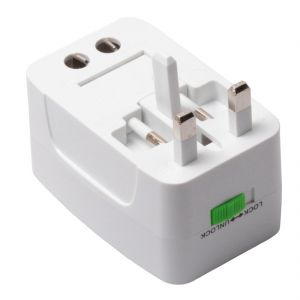 Adapters - Universal Travel Power AC Adapter Plug with USB Charger AU/US/UK/ EU (Code - UN AD 07 A)