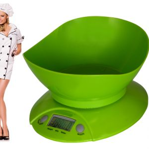 Digital Liquid Kitchen Diet Food Weight Weighing Scale 11lb 5kg With Bowl (code - Jm Wg Sl 31)
