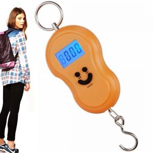 Portable 50kg Digital Luggage Fish Hook Hanging Weight Weighing Scale (code - Jm Wg Sl 35)