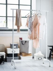Home Utility Furniture - RIGGA Clothes Rack Single Pole Telescopic Clothes Rack Clothes Dryer.
