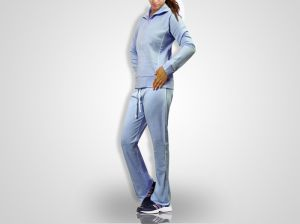 Women Blue Jogging, Gym Tracksuit