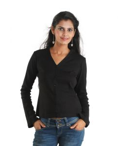 Platinum Rags Black Sports Full Sleeve Solid Women