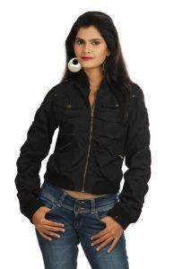 Winter wear for women (Misc) - Miss Butterfly Full Sleeve Solid Women's Jacket Black