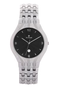 Titan Mens' Watches   Round Dial   Metal Belt   Analog - TITAN - 1406SCA MEN'S WATCH SILVER METAL