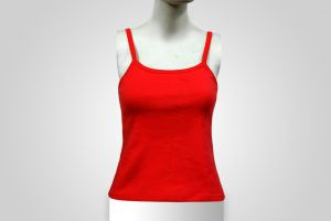 Ladies Sleeveless Sports Tank Top Tshirt Womens Sports Gym Wear Red Color