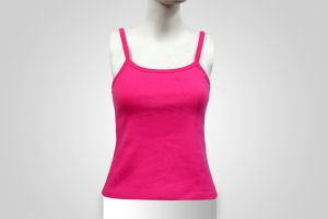 Ladies Sleeveless Sports Tank Top Tshirt Womens Sports Gym Wear Pink Color