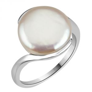 Silver Rings - Surat Diamond 12.67cts Real Big Pearl & 925 Sterling Silver Ring for Astrological Power for All 12.67cts PSR