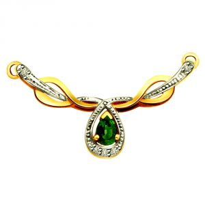 Surat Diamond Diamond & Emerald Necklace Pendant Dn135