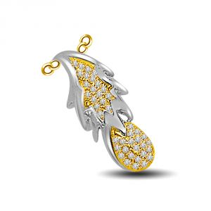 Surat Diamond The Fruit Of Life..two Tone Diamond & Gold Pendant Dn216