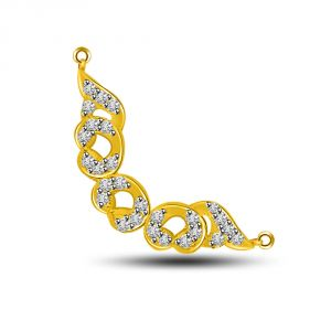 Surat Diamond Life Is Beautiful Yellow Gold Diamond Pendant Dn245