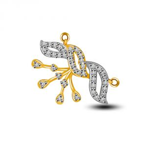 Surat Diamond Live Life Together Diamond & Gold Two Tone Pendant Dn268