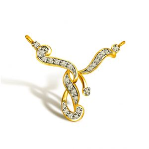 Surat Diamond With You Forever Yellow Gold Diamond Pendant Dn280