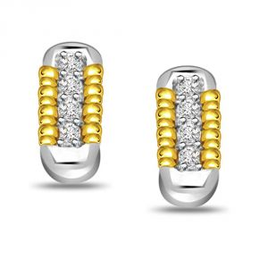 Surat Diamond Magical Stick 0.40 Ct Diamond Bali Earring Er136