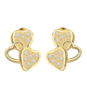 Surat Diamond Heavenly Triseme 0.40 Ct Heart Shape Diamond Earring Er140