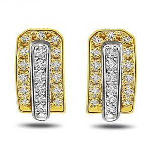 Surat Diamond Twilight Saga 0.76 Ct Diamond Bali Earring Er143