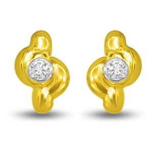 Surat Diamond 0.40 Ct Diamond Solitaire Earring Er154