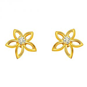 Surat Diamond 0.08 Ct Daimond Star Earring Er163