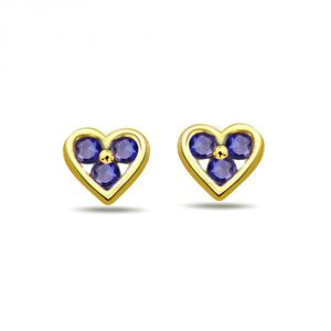 Surat Diamond 0.18ct Heart Shape Sapphire Earring Er248