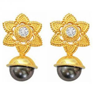Surat Diamond Black Beauty Diamond Earrings Er27