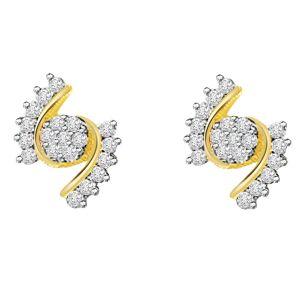 7eaaff62a1d7 Buy Surat Diamond 0.14ct Diamond 18kt Gold Earring Er295 Online ...