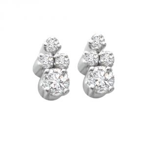 Surat Diamond Mysterious Girl 0.20cts Real Diamond Earrings Er36