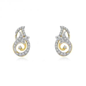 Surat Diamond Unconditional Love Two Tone Gold & Diamond Earrings Er432