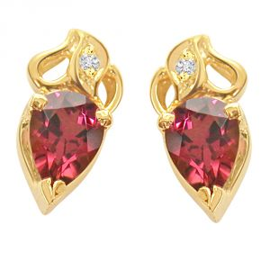 Surat Diamond Rosy Love Diamond Rouge Earring Er70