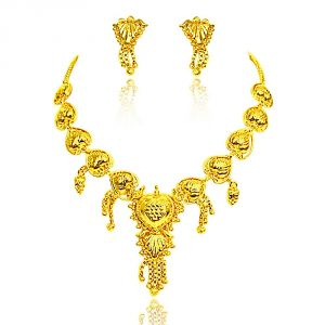 Surat Diamond Gold Plated Necklace Earring Set - Gp5 Gp5