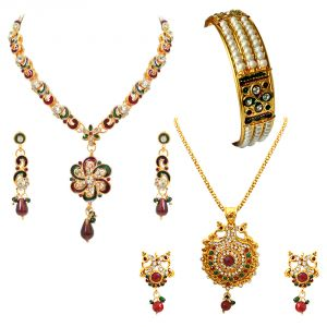 jagdamba,surat diamonds,valentine Fashion, Imitation Jewellery - Surat Diamond Ehtnic Jewellery Hamper Hamper-1502