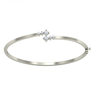 Surat Diamond Rhodium Band/bracelet-(slbr1)
