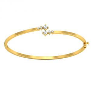 Surat Diamond Golden Band/bracelet -(slbr3)