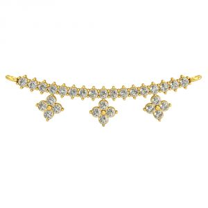 Diamond Mangalsutras - Surat Diamond Marvelous Delight Mangalsutra Pendant-(DN435)