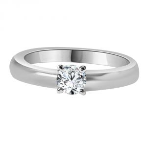 Diamond Rings - Surat Diamond 0.26ct Round K/I2 Engagement Delight Ring-(026KI2)