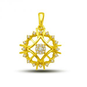 Rcpc,Ivy,Soie,Surat Diamonds,Port,Fasense,Cloe Women's Clothing - Surat Diamond Opulence Pendant - your way of life P1213
